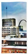 St Louis Skyline Beach Towel