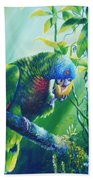St. Lucia Parrot And Wild Passionfruit Beach Towel