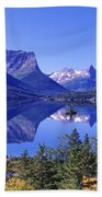 St Mary Lake Glacier National Park Mt Beach Towel