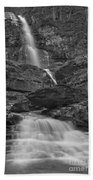 St Mary Triple Cascades - Black And White Beach Towel