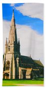 St Mary's Church, Studley Royal  Beach Towel