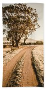 St Marys Winter Country Road Beach Towel