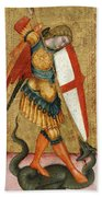 St Michael And The Dragon Beach Towel