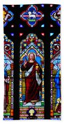 St. Michael's Parish Stained Glass Beach Towel