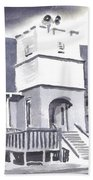 St Paul Lutheran With Ink Beach Towel