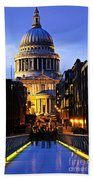St. Paul's Cathedral From Millennium Bridge Beach Towel