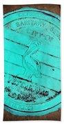 St Petersburg Manhole Beach Towel