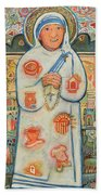 St. Teresa Of Kolkata Beach Sheet