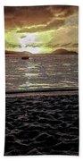 St Thomas - Dusk At Magans Bay Beach Towel