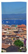 St-tropez Skyline Beach Towel by Corinne Rhode