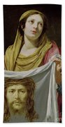 St. Veronica Holding The Holy Shroud Beach Towel