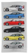 Stack Of E36 Variants Beach Towel