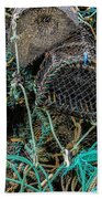 Stacked Crab Traps Beach Towel