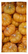 Stacked Mini Pumpkins Beach Towel
