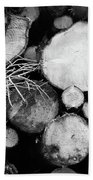 Stacked Wood Logs In Black And White Beach Towel