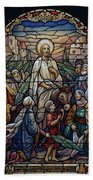 Stained Glass - Palm Sunday Beach Towel