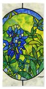 Stained Glass Bluebonnet Beach Towel