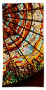 Stained Glass Ceiling Beach Towel