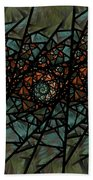 Stained Glass Floral I Beach Towel