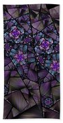 Stained Glass Floral II Beach Towel