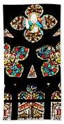 Stained Glass Glory Beach Towel
