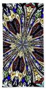 Stained Glass Kaleidoscope 38 Beach Towel