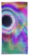 Stained Glass Morph #107 Beach Towel