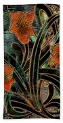 Stained Glass Parabolas Beach Towel