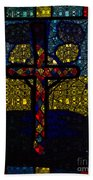Stained Glass Reworked Beach Towel