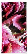 Stained Glass Roses 2 Beach Towel