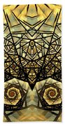 Stained Glass Summer Beach Towel