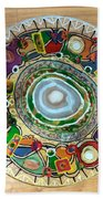 Stained Glass Table Top Beach Towel