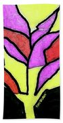 Tree - Stained Glass Watercolor Beach Towel