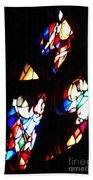 Stained Glass View Beach Towel