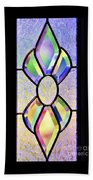 Stained Glass Watercolor Beach Towel