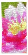 Stained Glass Waterlily Beach Towel