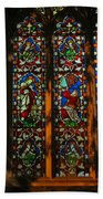 Stained Glass Window Christ Church Cathedral 2 Beach Towel