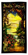 Stained Landscape Beach Towel