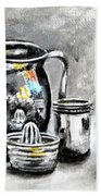 Stainless Steel Still Life Painting Beach Towel