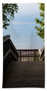Staircase Of Tranquility Beach Towel