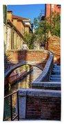 Staircase To Bridge In Venice_dsc1642_03012017 Beach Towel
