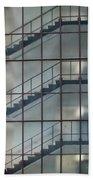 Stairs Behind Glass Beach Towel