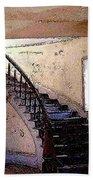 Stairway -  Meade Hotel - Bannack Mt Beach Sheet