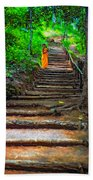 Stairway To Heaven Impasto Beach Towel