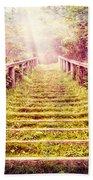 Stairway To The Garden Beach Towel