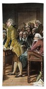 Stamp Act: Patrick Henry Beach Towel