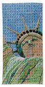 Stampue Of Liberty Beach Towel