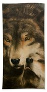 Stand By Me - Wolves Beach Towel