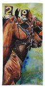 Standardbred Trotter Pacer Painting Beach Towel