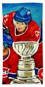 Stanley Cup Win In Sight Playoffs   2010 Beach Towel by Carole Spandau